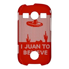 I Juan To Believe Ugly Holiday Christmas Red Background Samsung Galaxy S7710 Xcover 2 Hardshell Case