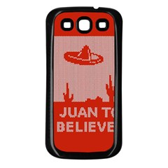 I Juan To Believe Ugly Holiday Christmas Red Background Samsung Galaxy S3 Back Case (Black)