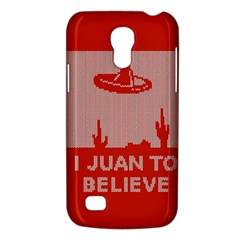 I Juan To Believe Ugly Holiday Christmas Red Background Galaxy S4 Mini