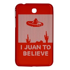 I Juan To Believe Ugly Holiday Christmas Red Background Samsung Galaxy Tab 3 (7 ) P3200 Hardshell Case