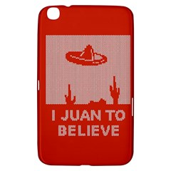 I Juan To Believe Ugly Holiday Christmas Red Background Samsung Galaxy Tab 3 (8 ) T3100 Hardshell Case
