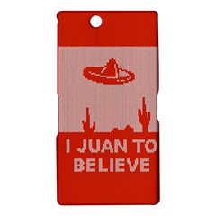 I Juan To Believe Ugly Holiday Christmas Red Background Sony Xperia Z Ultra