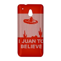 I Juan To Believe Ugly Holiday Christmas Red Background HTC One Mini (601e) M4 Hardshell Case