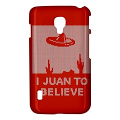 I Juan To Believe Ugly Holiday Christmas Red Background LG Optimus L7 II