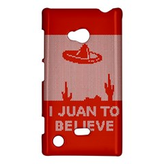 I Juan To Believe Ugly Holiday Christmas Red Background Nokia Lumia 720