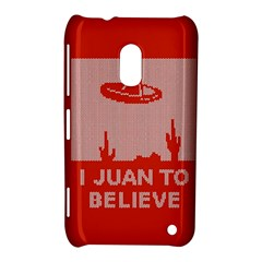 I Juan To Believe Ugly Holiday Christmas Red Background Nokia Lumia 620