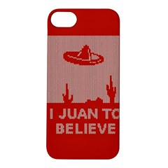 I Juan To Believe Ugly Holiday Christmas Red Background Apple iPhone 5S/ SE Hardshell Case