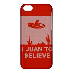 I Juan To Believe Ugly Holiday Christmas Red Background Apple iPhone 5C Hardshell Case