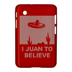 I Juan To Believe Ugly Holiday Christmas Red Background Samsung Galaxy Tab 2 (7 ) P3100 Hardshell Case