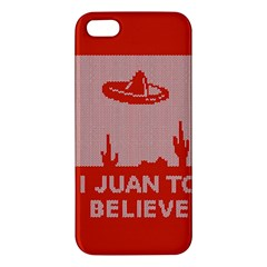 I Juan To Believe Ugly Holiday Christmas Red Background iPhone 5S/ SE Premium Hardshell Case