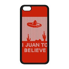 I Juan To Believe Ugly Holiday Christmas Red Background Apple iPhone 5C Seamless Case (Black)