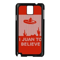 I Juan To Believe Ugly Holiday Christmas Red Background Samsung Galaxy Note 3 N9005 Case (Black)