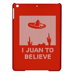 I Juan To Believe Ugly Holiday Christmas Red Background iPad Air Hardshell Cases