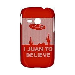 I Juan To Believe Ugly Holiday Christmas Red Background Samsung Galaxy S6310 Hardshell Case