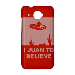 I Juan To Believe Ugly Holiday Christmas Red Background HTC Desire 601 Hardshell Case