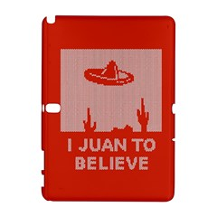 I Juan To Believe Ugly Holiday Christmas Red Background Samsung Galaxy Note 10.1 (P600) Hardshell Case