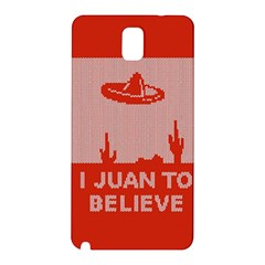 I Juan To Believe Ugly Holiday Christmas Red Background Samsung Galaxy Note 3 N9005 Hardshell Back Case
