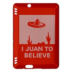 I Juan To Believe Ugly Holiday Christmas Red Background Kindle Fire HDX Hardshell Case
