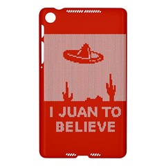 I Juan To Believe Ugly Holiday Christmas Red Background Nexus 7 (2013)