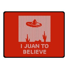 I Juan To Believe Ugly Holiday Christmas Red Background Double Sided Fleece Blanket (Small)