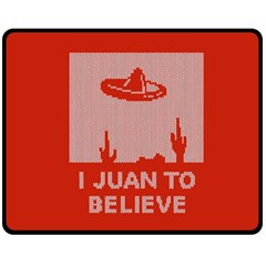 I Juan To Believe Ugly Holiday Christmas Red Background Double Sided Fleece Blanket (Medium)