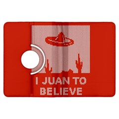 I Juan To Believe Ugly Holiday Christmas Red Background Kindle Fire HDX Flip 360 Case