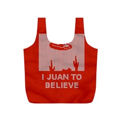I Juan To Believe Ugly Holiday Christmas Red Background Full Print Recycle Bags (S)