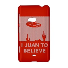 I Juan To Believe Ugly Holiday Christmas Red Background Nokia Lumia 625