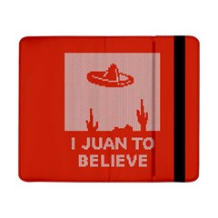 I Juan To Believe Ugly Holiday Christmas Red Background Samsung Galaxy Tab Pro 8.4  Flip Case