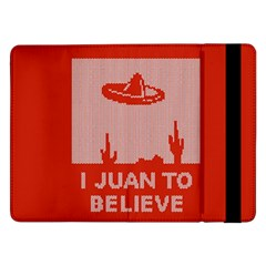 I Juan To Believe Ugly Holiday Christmas Red Background Samsung Galaxy Tab Pro 12.2  Flip Case