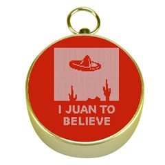 I Juan To Believe Ugly Holiday Christmas Red Background Gold Compasses