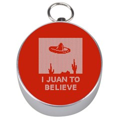 I Juan To Believe Ugly Holiday Christmas Red Background Silver Compasses