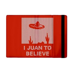 I Juan To Believe Ugly Holiday Christmas Red Background iPad Mini 2 Flip Cases
