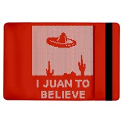 I Juan To Believe Ugly Holiday Christmas Red Background iPad Air Flip