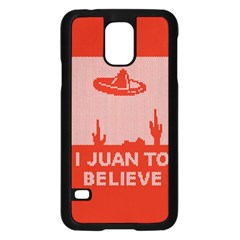 I Juan To Believe Ugly Holiday Christmas Red Background Samsung Galaxy S5 Case (Black)
