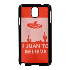 I Juan To Believe Ugly Holiday Christmas Red Background Samsung Galaxy Note 3 Neo Hardshell Case (black)