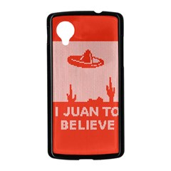 I Juan To Believe Ugly Holiday Christmas Red Background Nexus 5 Case (Black)
