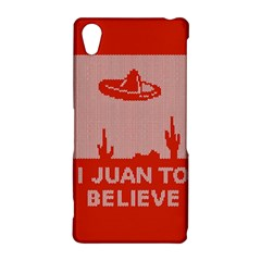 I Juan To Believe Ugly Holiday Christmas Red Background Sony Xperia Z2