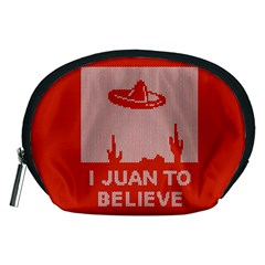 I Juan To Believe Ugly Holiday Christmas Red Background Accessory Pouches (Medium)