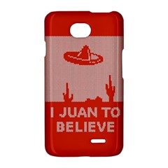 I Juan To Believe Ugly Holiday Christmas Red Background LG Optimus L70