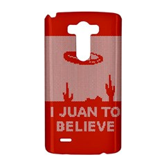 I Juan To Believe Ugly Holiday Christmas Red Background LG G3 Hardshell Case