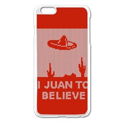 I Juan To Believe Ugly Holiday Christmas Red Background Apple iPhone 6 Plus/6S Plus Enamel White Case