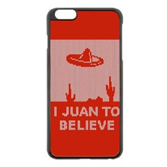 I Juan To Believe Ugly Holiday Christmas Red Background Apple iPhone 6 Plus/6S Plus Black Enamel Case