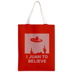 I Juan To Believe Ugly Holiday Christmas Red Background Classic Light Tote Bag