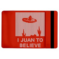 I Juan To Believe Ugly Holiday Christmas Red Background iPad Air 2 Flip