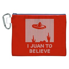 I Juan To Believe Ugly Holiday Christmas Red Background Canvas Cosmetic Bag (XXL)