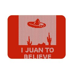 I Juan To Believe Ugly Holiday Christmas Red Background Double Sided Flano Blanket (mini)