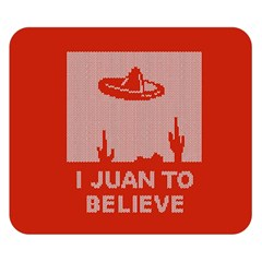 I Juan To Believe Ugly Holiday Christmas Red Background Double Sided Flano Blanket (Small)