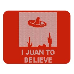 I Juan To Believe Ugly Holiday Christmas Red Background Double Sided Flano Blanket (Large)