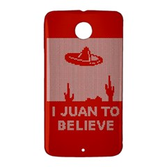 I Juan To Believe Ugly Holiday Christmas Red Background Nexus 6 Case (White)